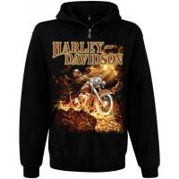 Балахон мужской с молнией Harley Davidson