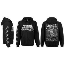 Балахон мужской с молнией Metallica
