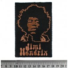 Нашивка вышитая Jimi Hendrix