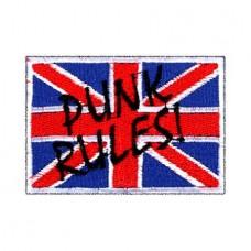 Нашивка вышитая Punk Rules