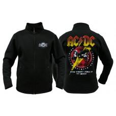Свитер мужской с молнией AC-DC