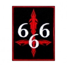 Нашивка вышитая 666